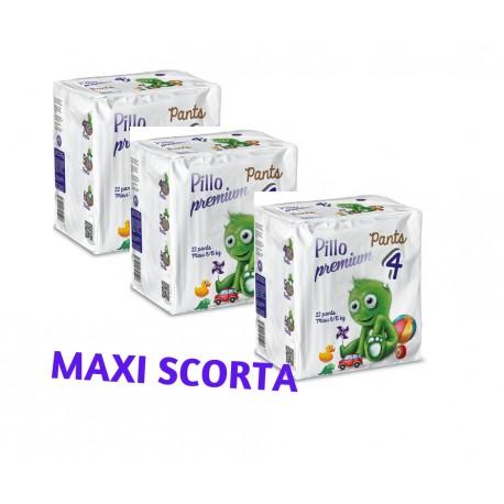 Pillo Premium Pants MAXI 8-15kg Taglia 4 (2  CONFEZIONI - 90 pannolini-mutanda)