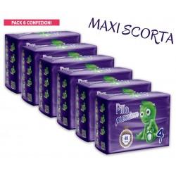 Pillo Premium Pannolini MAXI 7-18kg TAGLIA 4 (6 CONFEZIONI - 276 pannolini)