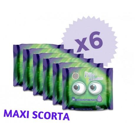 Salviettine Pillo Baby Umidificate 20 pezzi (6 CONFEZIONI - 120 salviettine)
